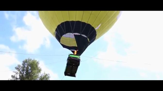 Man i Novosibirsk bötfälld för att ha flugit sin bil med luftballong